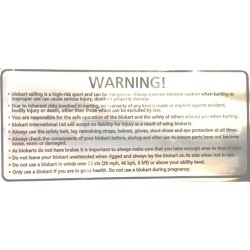 Decal floor warning
