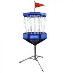 Portable discgolf doel blue