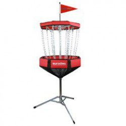 Portable discgolf doel red