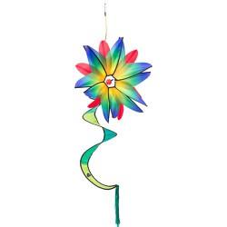 Swinging Flower Blue Gradient
