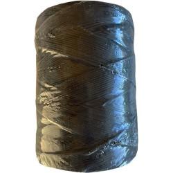 Dacron gevlochten 1000m 80kg zwart