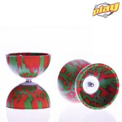 Rainbow diabolo 105 mm 260 gr Red - Green