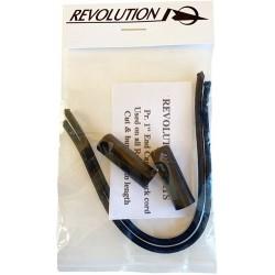 "Revolution 1/4"" einddop per paar incl. elastiek"