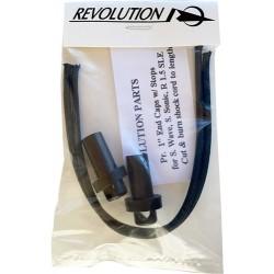 "Revolution 1/2"" einddop per paar incl. elastiek"