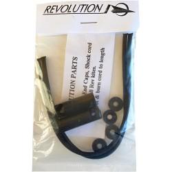 "Revolution 1/4"" einddop met stofkap per paar incl. elastiek"