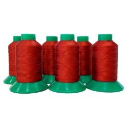 Naaigaren polyester klos 800 meter rood