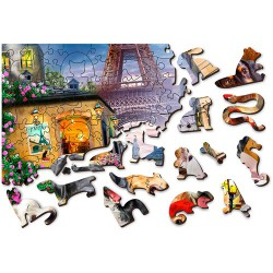 Wooden City Wooden Puzzle Puppies in Paris L
