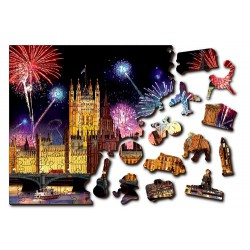Wooden puzzle London by night L