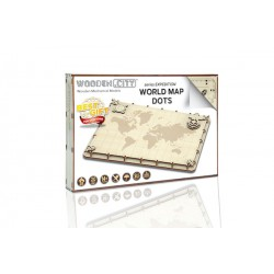 Wooden City World Map Expedition series Dots