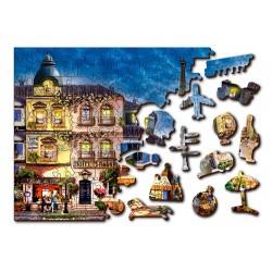 Wooden puzzle Breakfast in Paris L