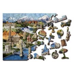 Wooden puzzle World Landmarks