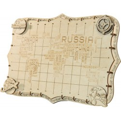 Wooden City World Map Expedition series Words