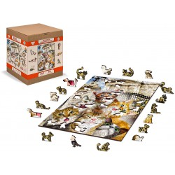 Wooden City Wooden Puzzle Kittens in London L