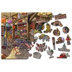Wooden City Wooden puzzle In the toyshop