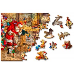 Wooden City Wooden puzzle Santa's workshop