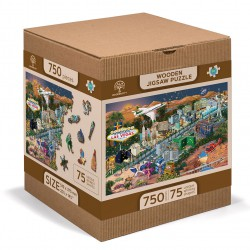 Wooden City Wooden puzzle Welcome to Las Vegas