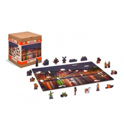 Wooden puzzle Amsterdam by night XL