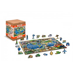 Wooden puzzle Animal kingdom map XL