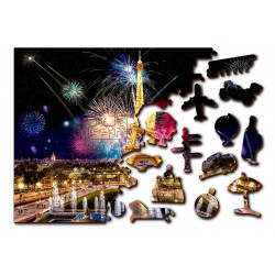 Wooden City Wooden puzzle Paris by night