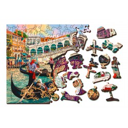 Wooden City Wooden puzzle Venice carnival