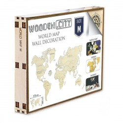 Wooden City World Map M