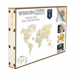 Wooden City World Map L